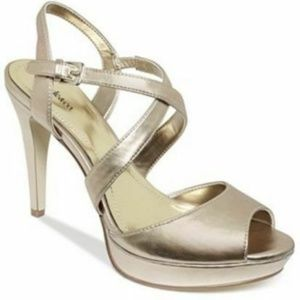 Style & Co. Gold Strappy High Heeled Sandals